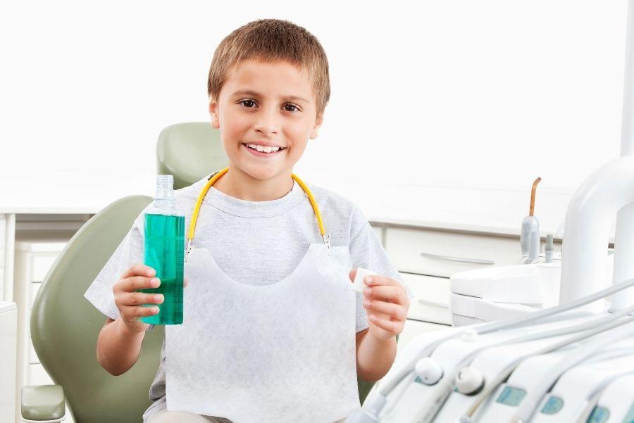 enjuague bucal para niños